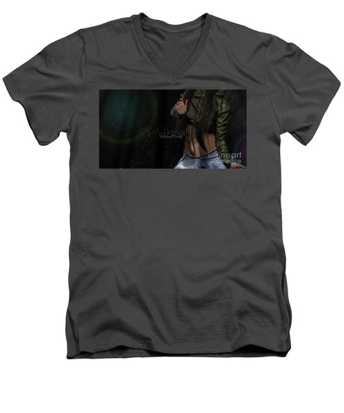 Dancing In The Rain 1 Men's V-Neck T-Shirt