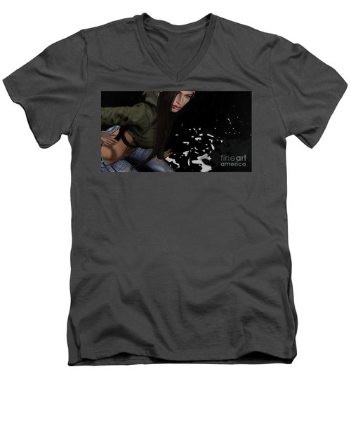 Dancing In The Rain 2 Men's V-Neck T-Shirt