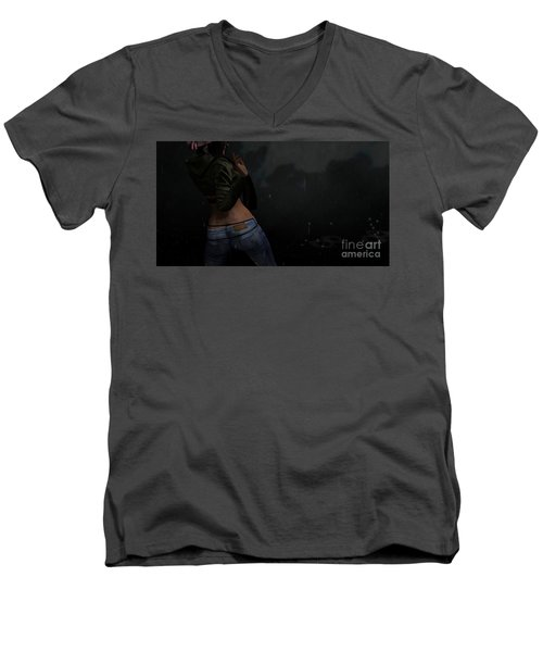 Dancing In The Rain 4 Men's V-Neck T-Shirt