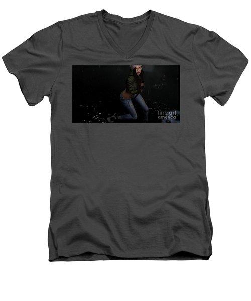 Dancing In The Rain 5 Men's V-Neck T-Shirt