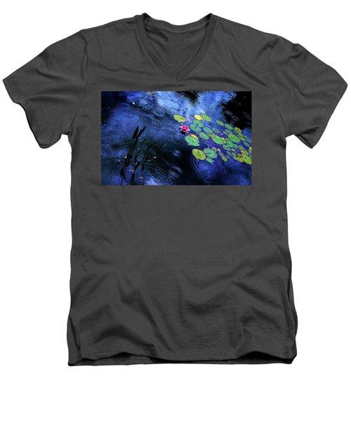 Dancing In The Rain Men's V-Neck T-Shirt by John Poon