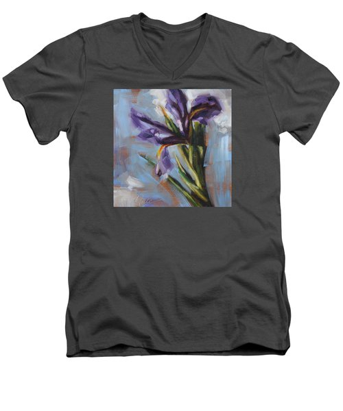 Dancing Iris Men's V-Neck T-Shirt