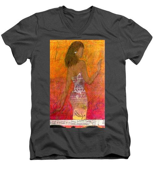 Dancing Lady Men's V-Neck T-Shirt