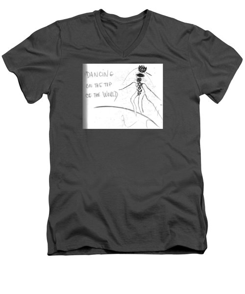 Dancing On The Top Of The World Men's V-Neck T-Shirt
