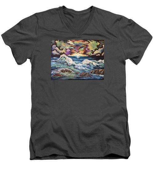 Dancing Skies 3 Men's V-Neck T-Shirt by Cheryl Pettigrew