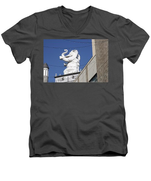 Dancing White Elephant Men's V-Neck T-Shirt
