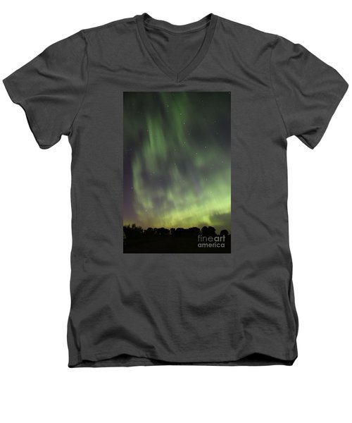 Men's V-Neck T-Shirt featuring the photograph Dancing With The Dipper by Larry Ricker