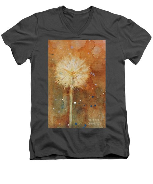 Dandelion Clock 1 Men's V-Neck T-Shirt
