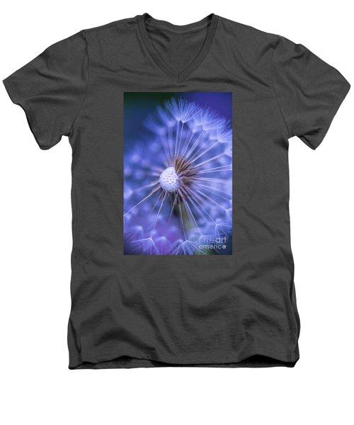 Dandelion Wish Men's V-Neck T-Shirt by Alana Ranney