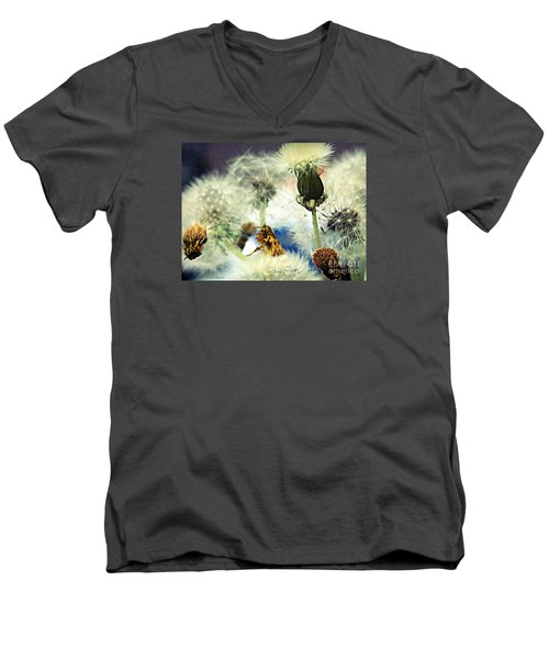 Dandelion Transitions Men's V-Neck T-Shirt