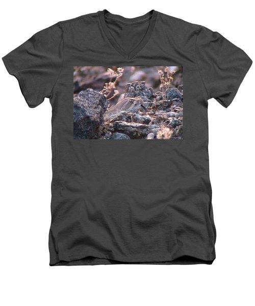 Dangerous Peekaboo  Men's V-Neck T-Shirt
