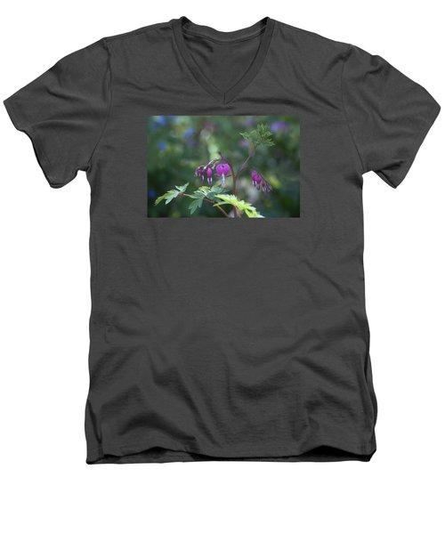 Dangling Hearts Men's V-Neck T-Shirt