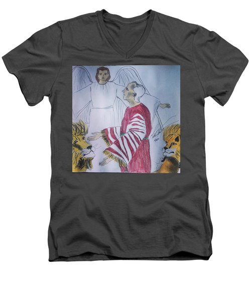 Daniel And Lion's Den Men's V-Neck T-Shirt