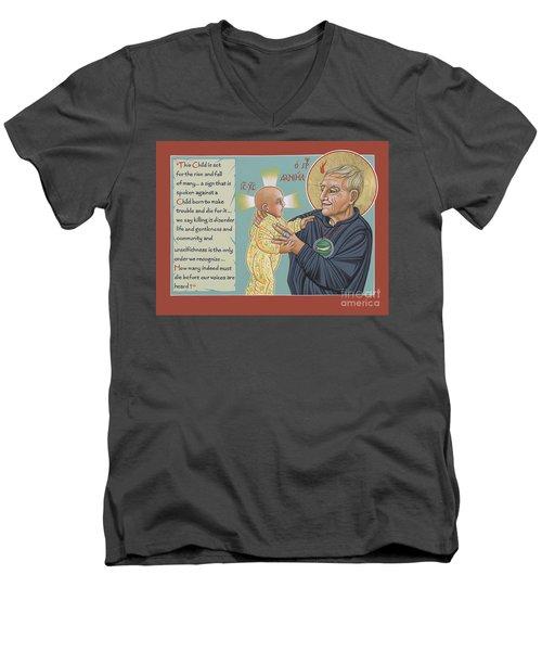 Holy Prophet Daniel Berrigan 291  Men's V-Neck T-Shirt