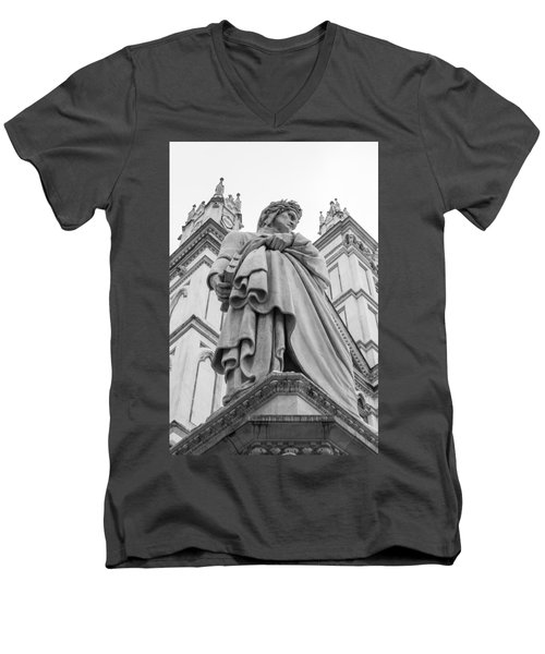 Men's V-Neck T-Shirt featuring the photograph Dante Alighieri by Sonny Marcyan