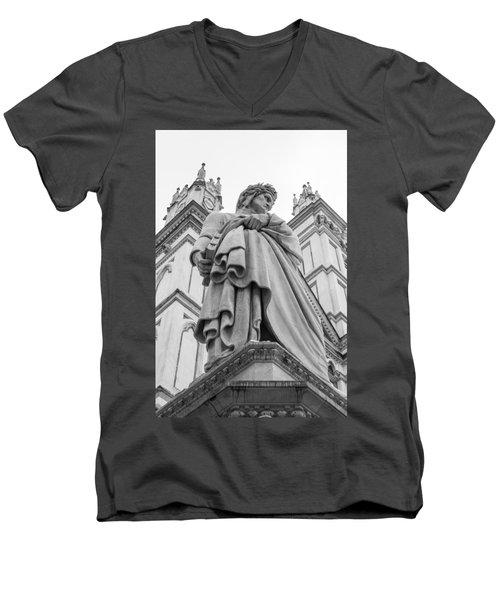 Dante Alighieri Men's V-Neck T-Shirt by Sonny Marcyan