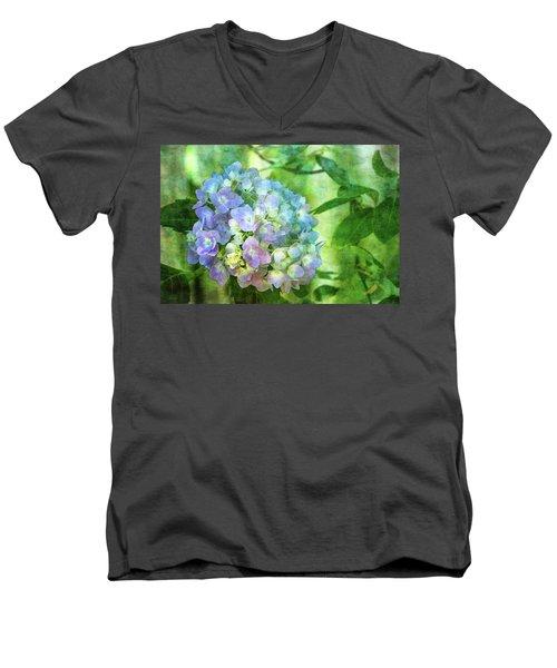 Dappled Light Hydrangea 2300 Idp_2 Men's V-Neck T-Shirt