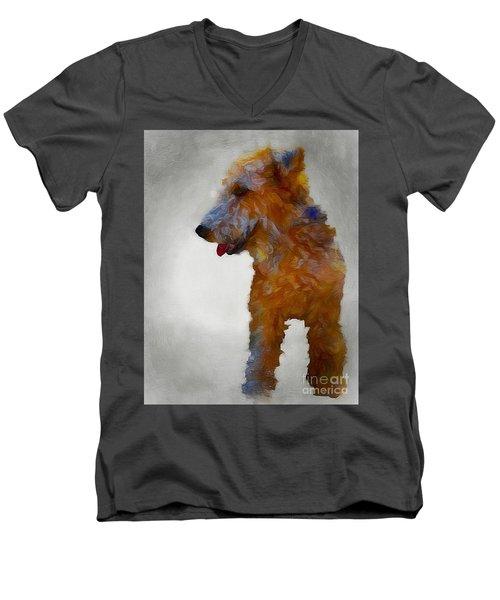 Darby Dog Men's V-Neck T-Shirt
