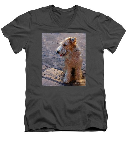 Men's V-Neck T-Shirt featuring the photograph Darby by John Kolenberg