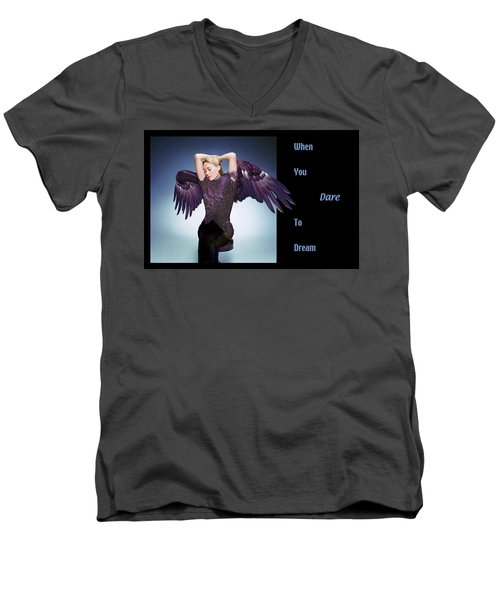 Dare To Dream Men's V-Neck T-Shirt