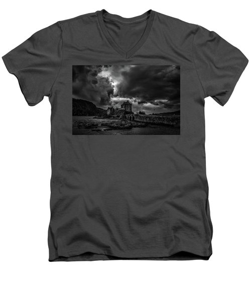 Dark Clouds Bw #h2 Men's V-Neck T-Shirt