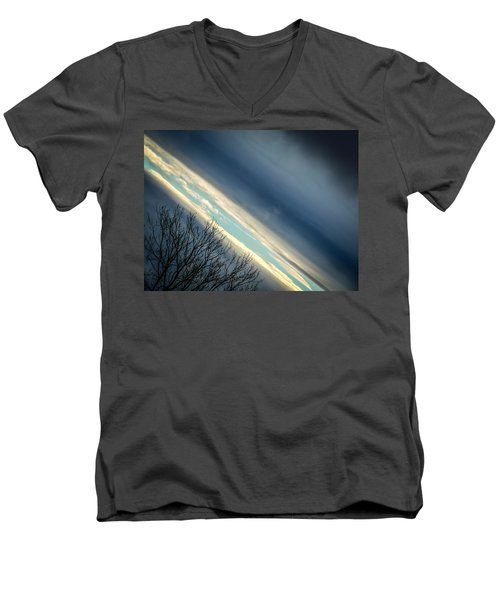 Dark Clouds Parting Men's V-Neck T-Shirt