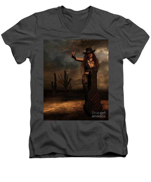 Dark Desert Highway Men's V-Neck T-Shirt