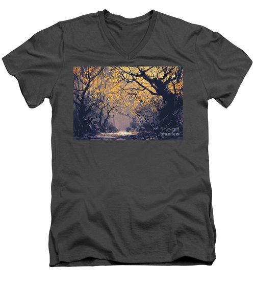 Dark Forest Men's V-Neck T-Shirt