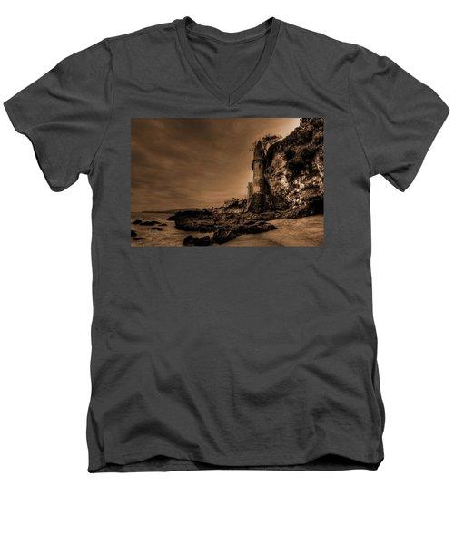 Dark La Tour Men's V-Neck T-Shirt