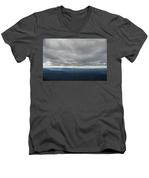 Dark Mountains Men's V-Neck T-Shirt