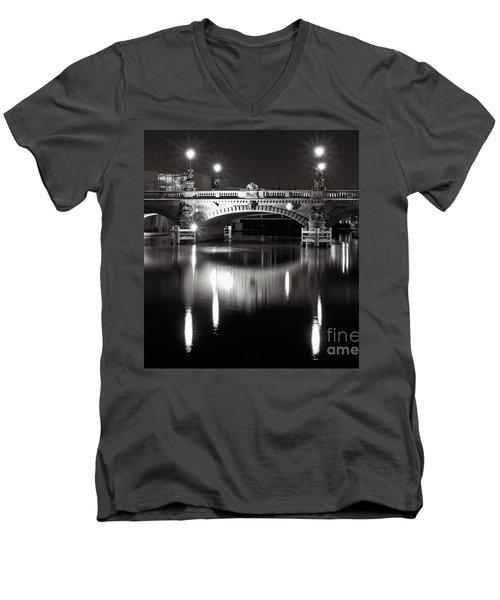 Dark Nocturnal Sound Of Silence Men's V-Neck T-Shirt