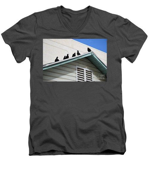 Dark Pigeons Men's V-Neck T-Shirt