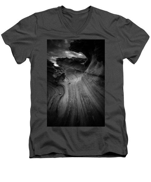 Dark Side Men's V-Neck T-Shirt by Bjorn Burton