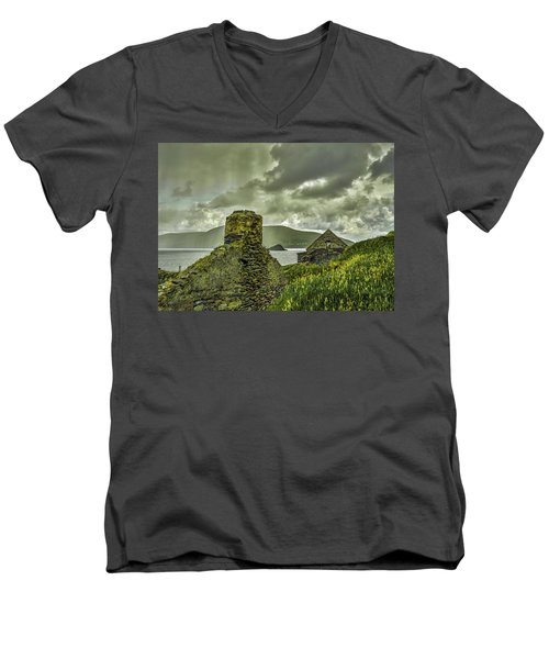Dark Sky #g0 Men's V-Neck T-Shirt by Leif Sohlman