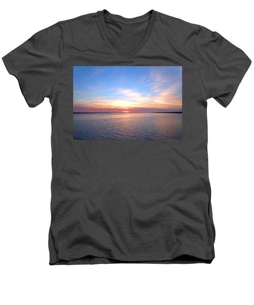 Dark Sunrise I I Men's V-Neck T-Shirt by  Newwwman