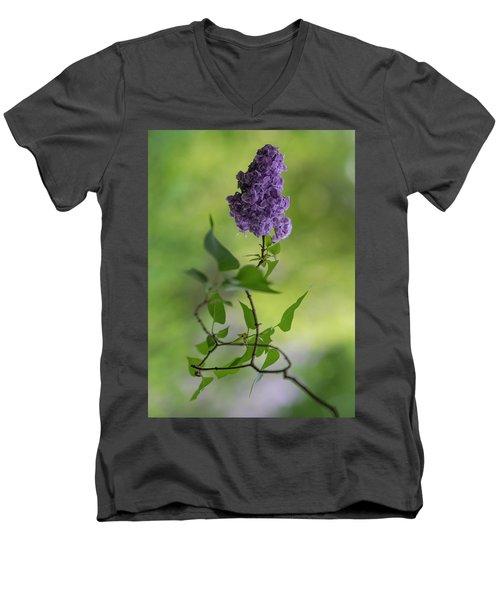Dark Violet Lilac Men's V-Neck T-Shirt