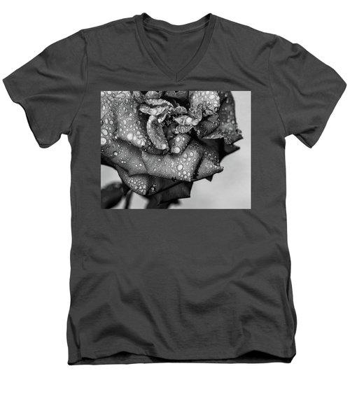 Dark Wet Rose Men's V-Neck T-Shirt