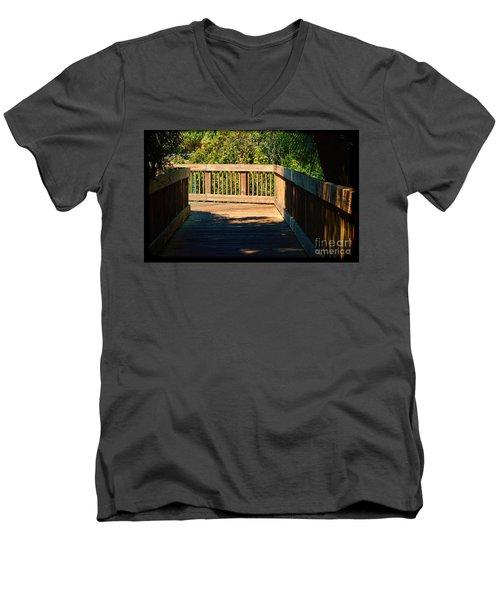 Darkness To Light Men's V-Neck T-Shirt by Pamela Blizzard