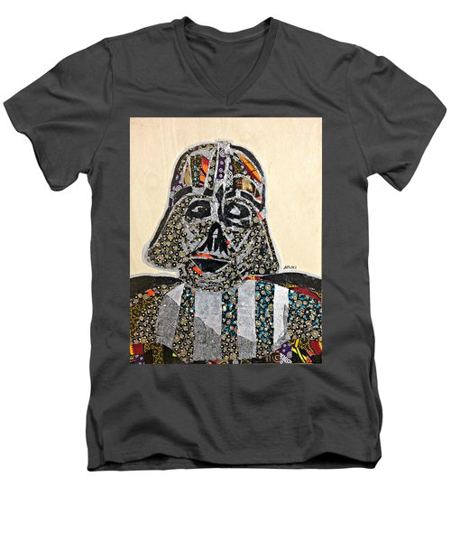 Darth Vader Star Wars Afrofuturist Collection Men's V-Neck T-Shirt