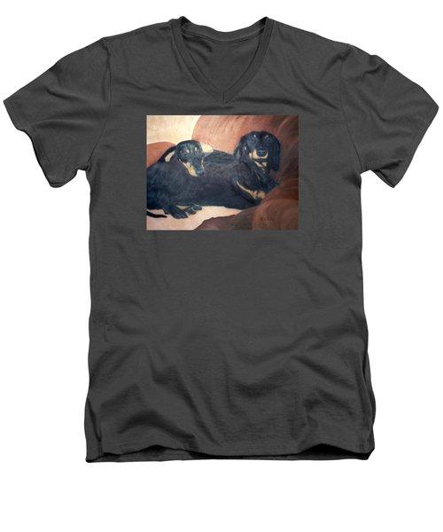 Daschounds Men's V-Neck T-Shirt