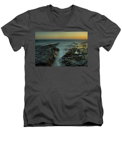 Davenport Landing Beach At Golden Hour Men's V-Neck T-Shirt