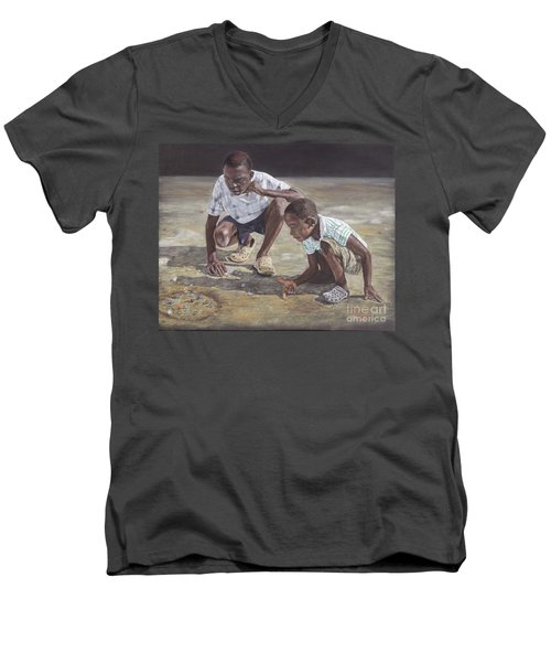 David And Goliath Men's V-Neck T-Shirt