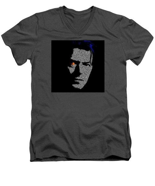 David Bowie 1 Men's V-Neck T-Shirt by Emme Pons