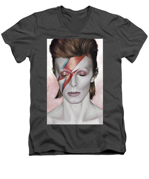 David Bowie Artwork 1 Men's V-Neck T-Shirt