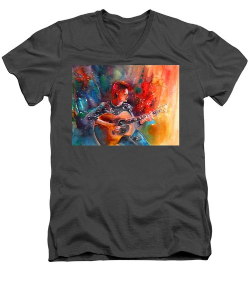 David Bowie In Space Oddity Men's V-Neck T-Shirt
