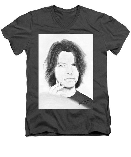 David Bowie - No Pressure Men's V-Neck T-Shirt