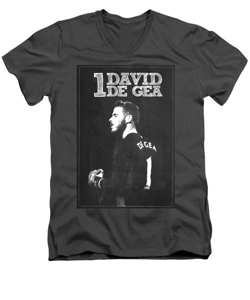 David De Gea Men's V-Neck T-Shirt by Semih Yurdabak