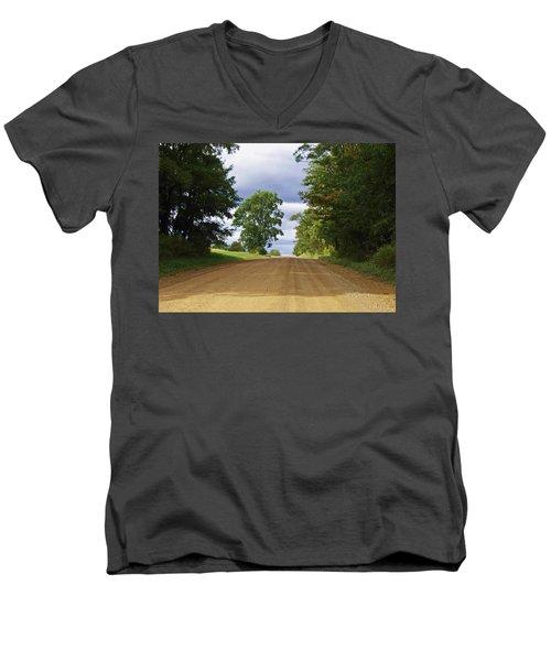 Davis Hill Rd. Men's V-Neck T-Shirt