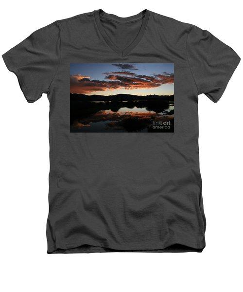 Dawn At Lake Dillon Men's V-Neck T-Shirt