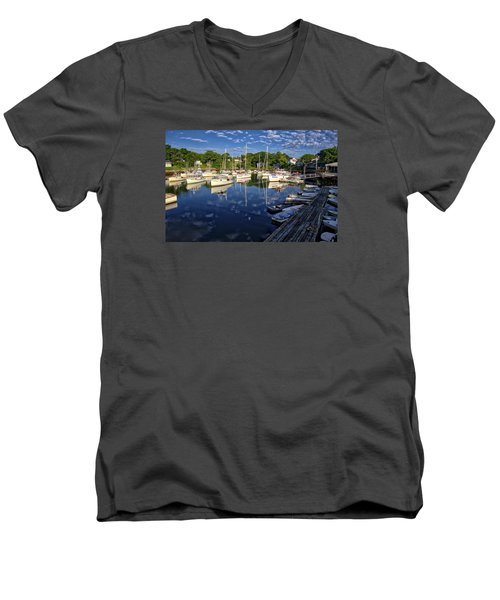 Dawn At Perkins Cove - Maine Men's V-Neck T-Shirt